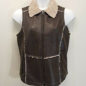 Natural Reflections M Vest Brown Suede Rancher